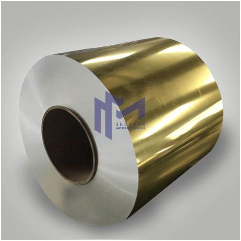 رول ورق آلومینیوم طلایی